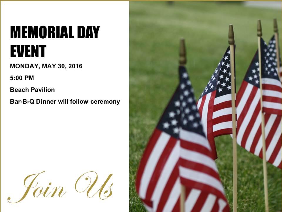 MEMORIAL DAY 5-30-16